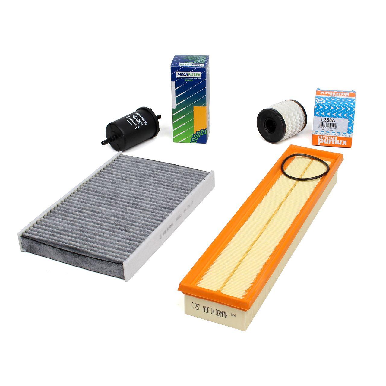 Inspektionskit Filterpaket für PEUGEOT 307 308 1.6 16V 109/110 PS ab 04.2005