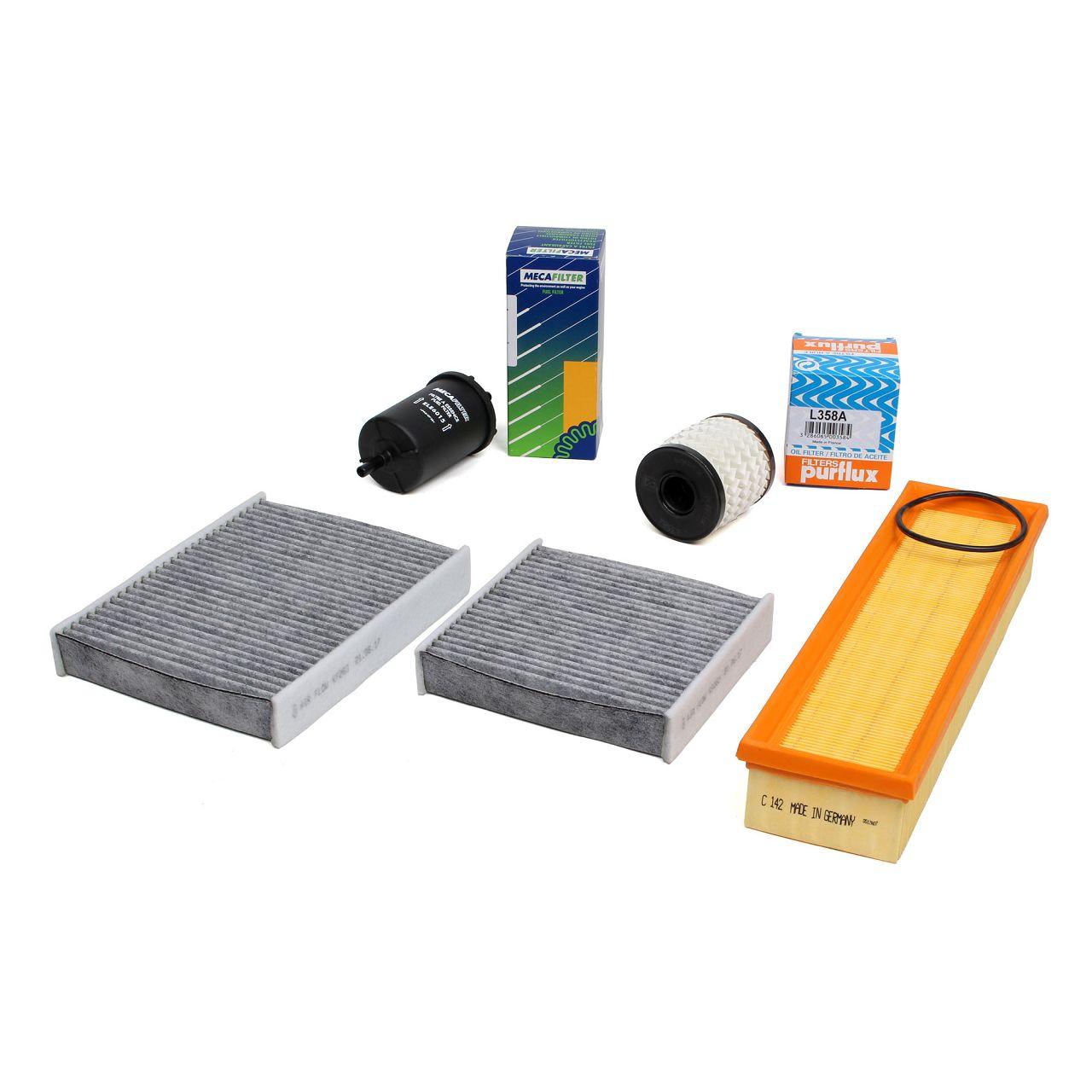 Inspektionskit Filterpaket Filterset für PEUGEOT 207 + 207 SW 1.4 73 PS