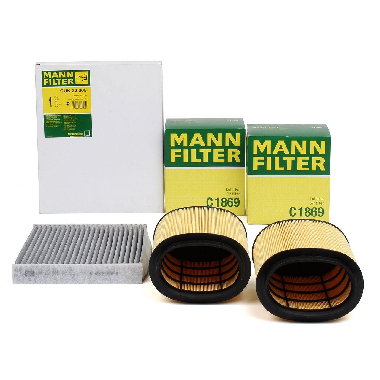 MANN Inspektionskit Filterpaket Filterset für PORSCHE PANAMERA 970 4.8 GTS 430PS