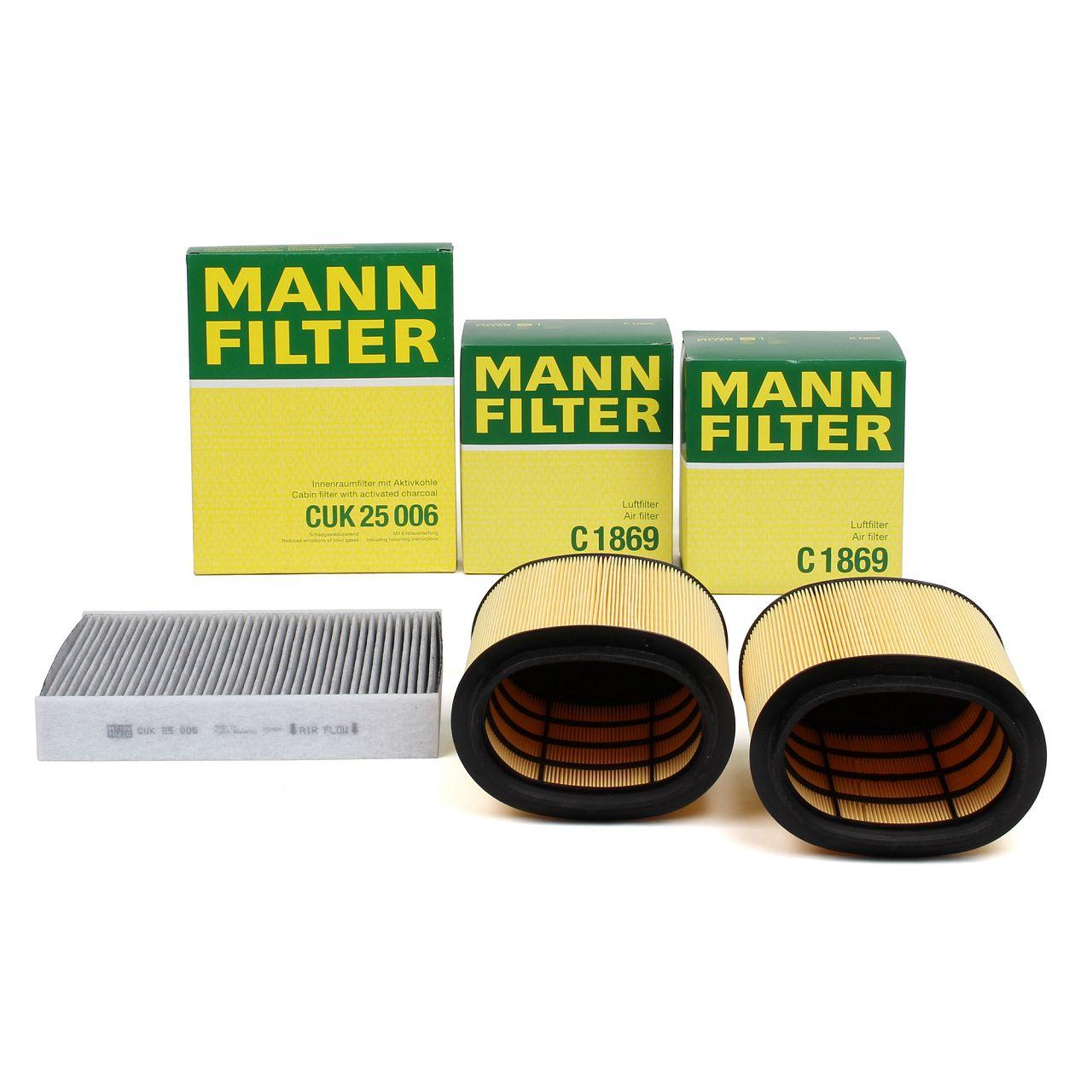 MANN Filterset für PORSCHE 911 (991) 3.4 Carrera 350 PS + 3.8 Carrera S 400 PS