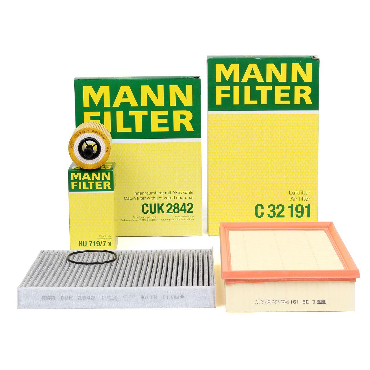 MANN Filterpaket Filterset für VW MULTIVAN TRANSPORTER T5 1.9/2.5 TDI 85-174 PS