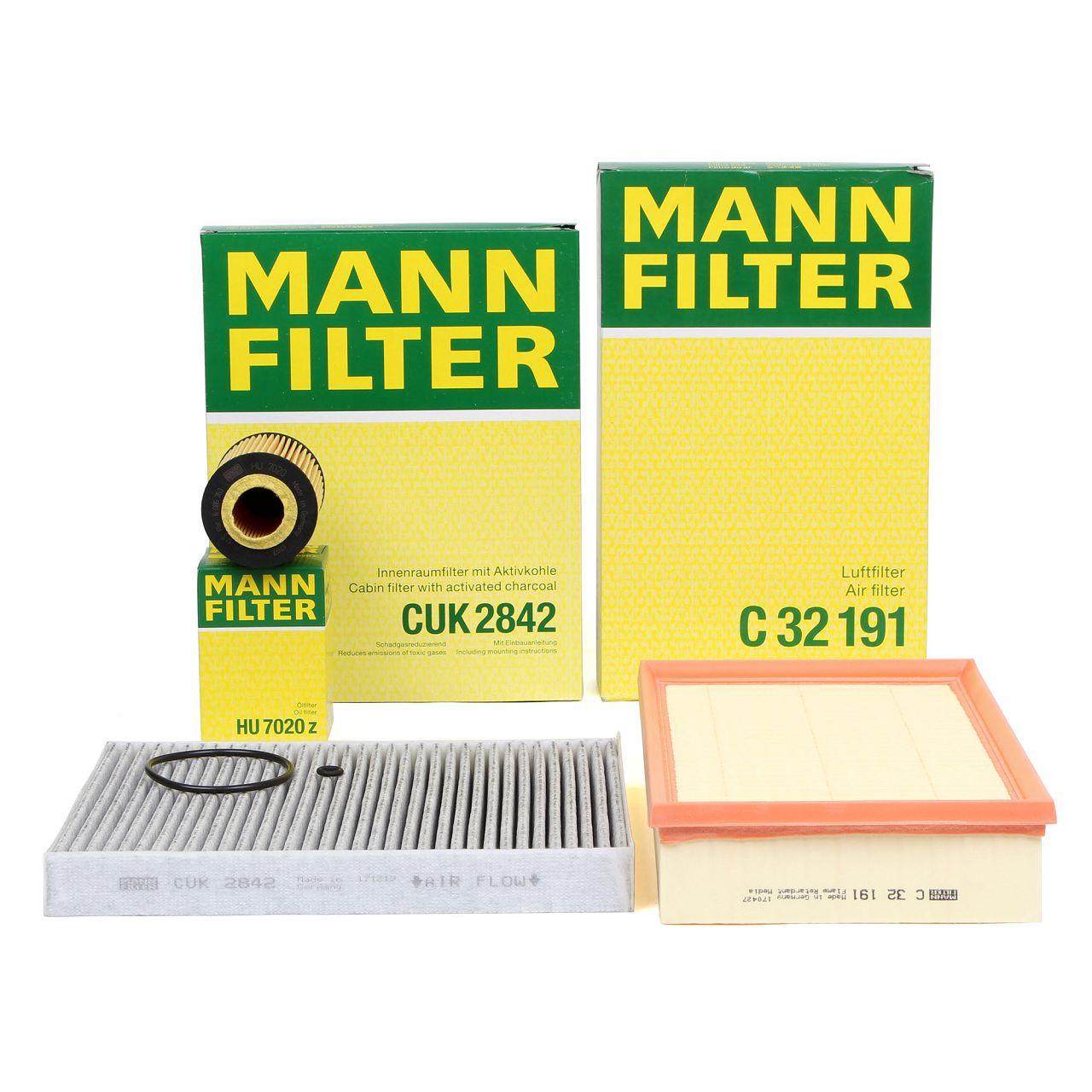 MANN Inspektionskit Filterpaket für VW MULTIVAN TRANSPORTER T6 2.0 TDI 84-204 PS