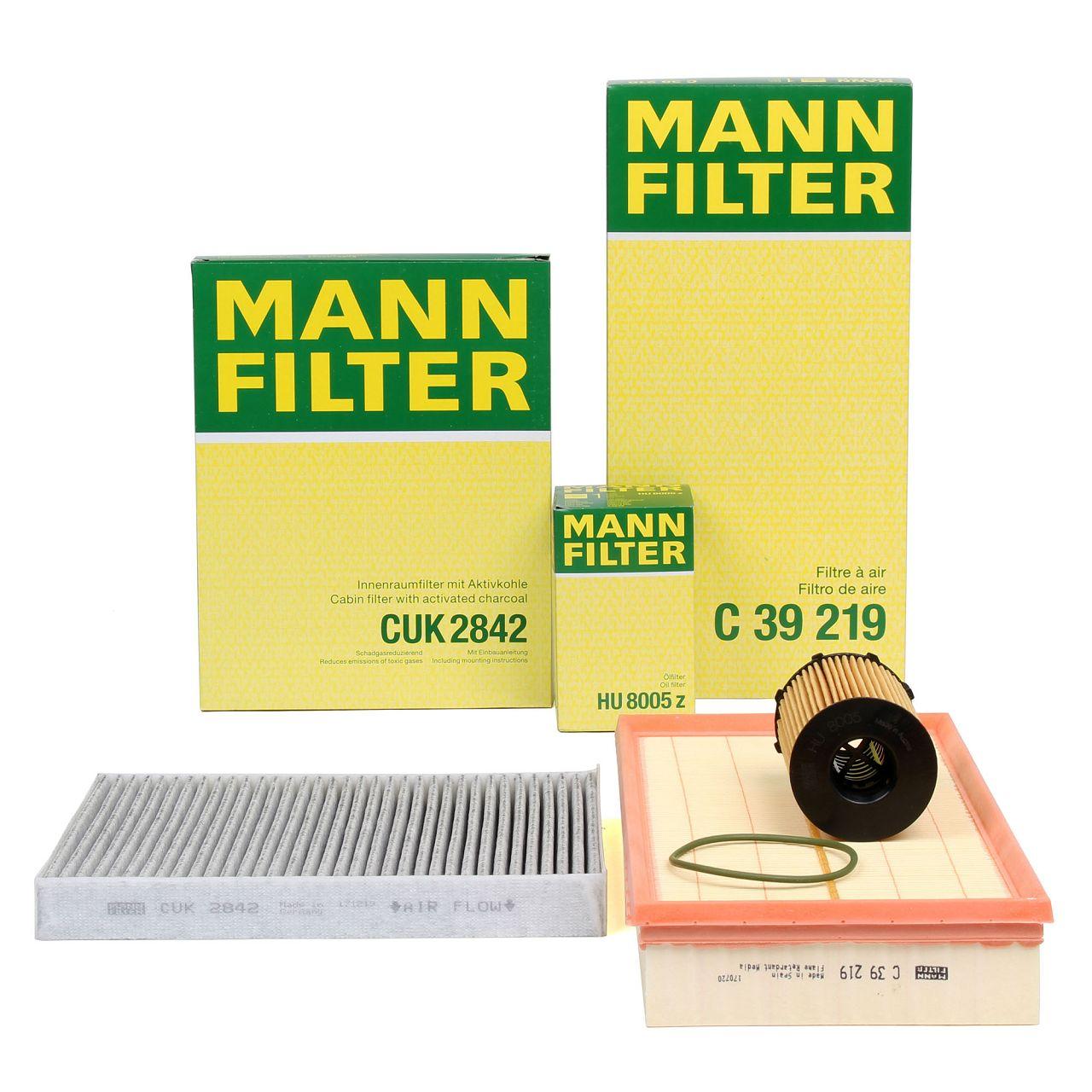 MANN Inspektionskit Filterpaket für AUDI Q7 (4LB) 3.0 TDI quattro 204/240/245 PS