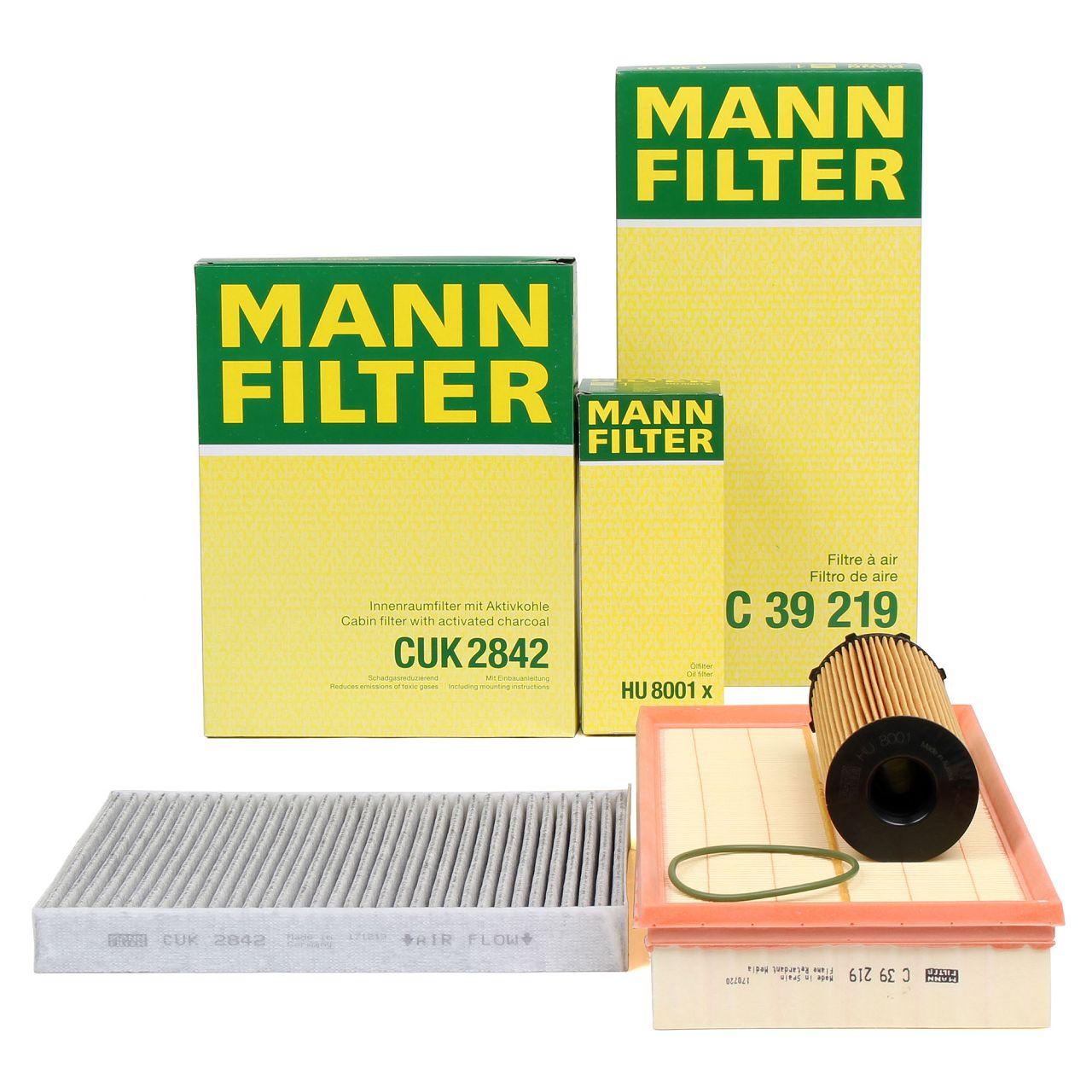 MANN Filterset für AUDI Q7 (4LB) PORSCHE CAYENNE (9PA) VW TOUAREG (7L) 3.0 TDI