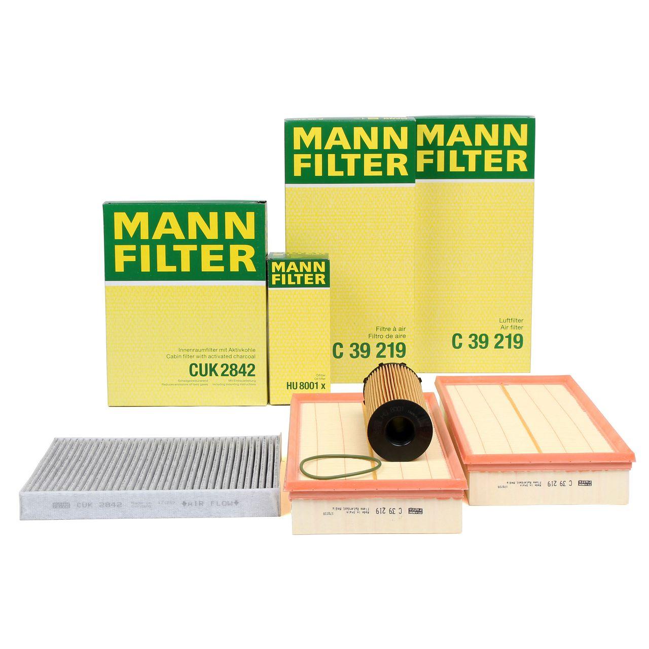 MANN Inspektionskit Filterpaket für AUDI Q7 (4LB) 4.2 TDI quattro 326/340 PS