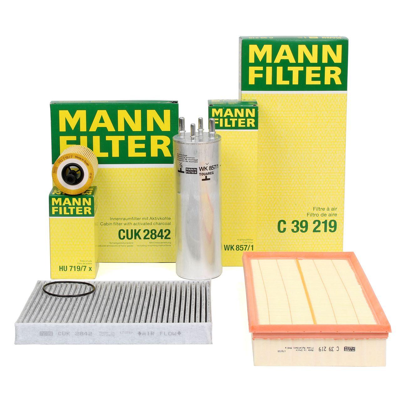 MANN Inspektionskit Filterpaket Filterset für VW TOUAREG 7L 2.5 R5 TDI 163/174PS