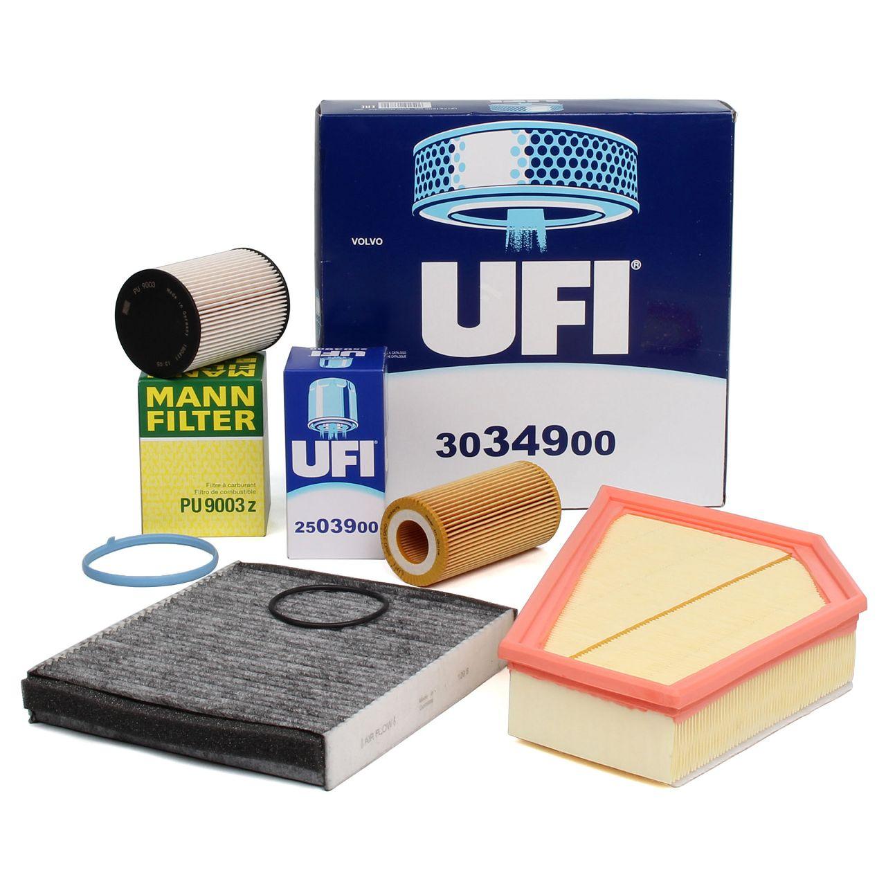 Inspektionskit Filterpaket für VOLVO C30 D5 + C70 II 2.4D D5 + V50 2.4D5 2.4Tdi