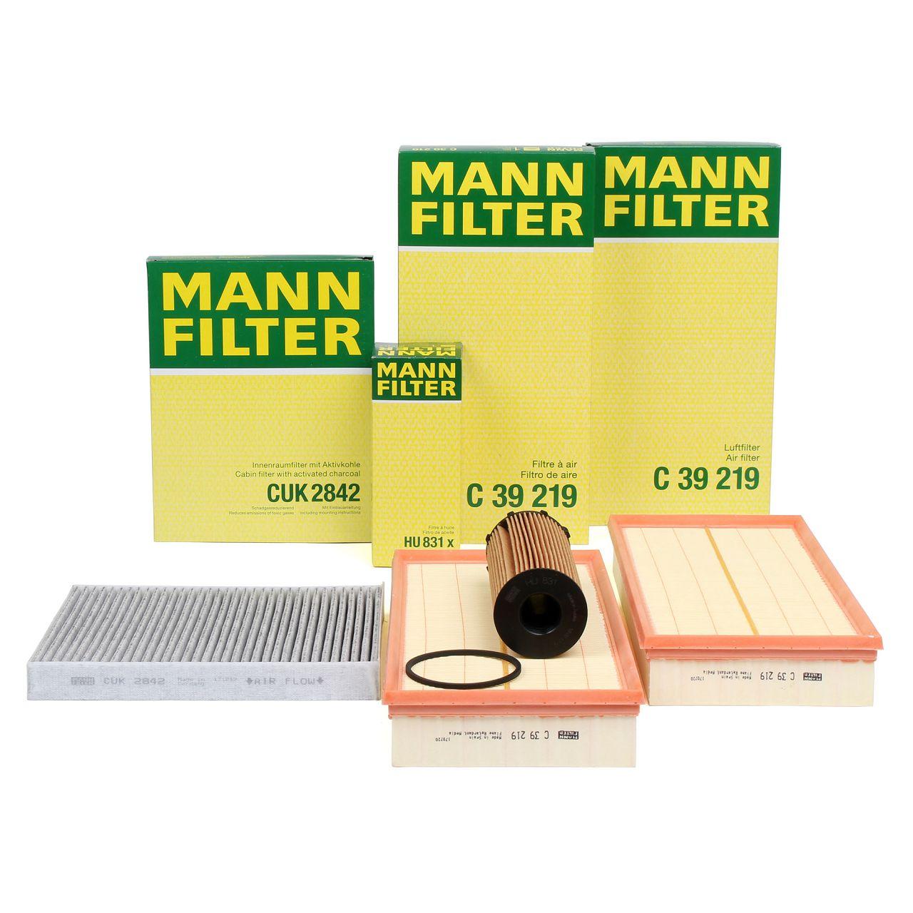 MANN Inspektionskit Filterpaket Filterset für AUDI Q7 4LB 4.2 TDI quattro 326 PS