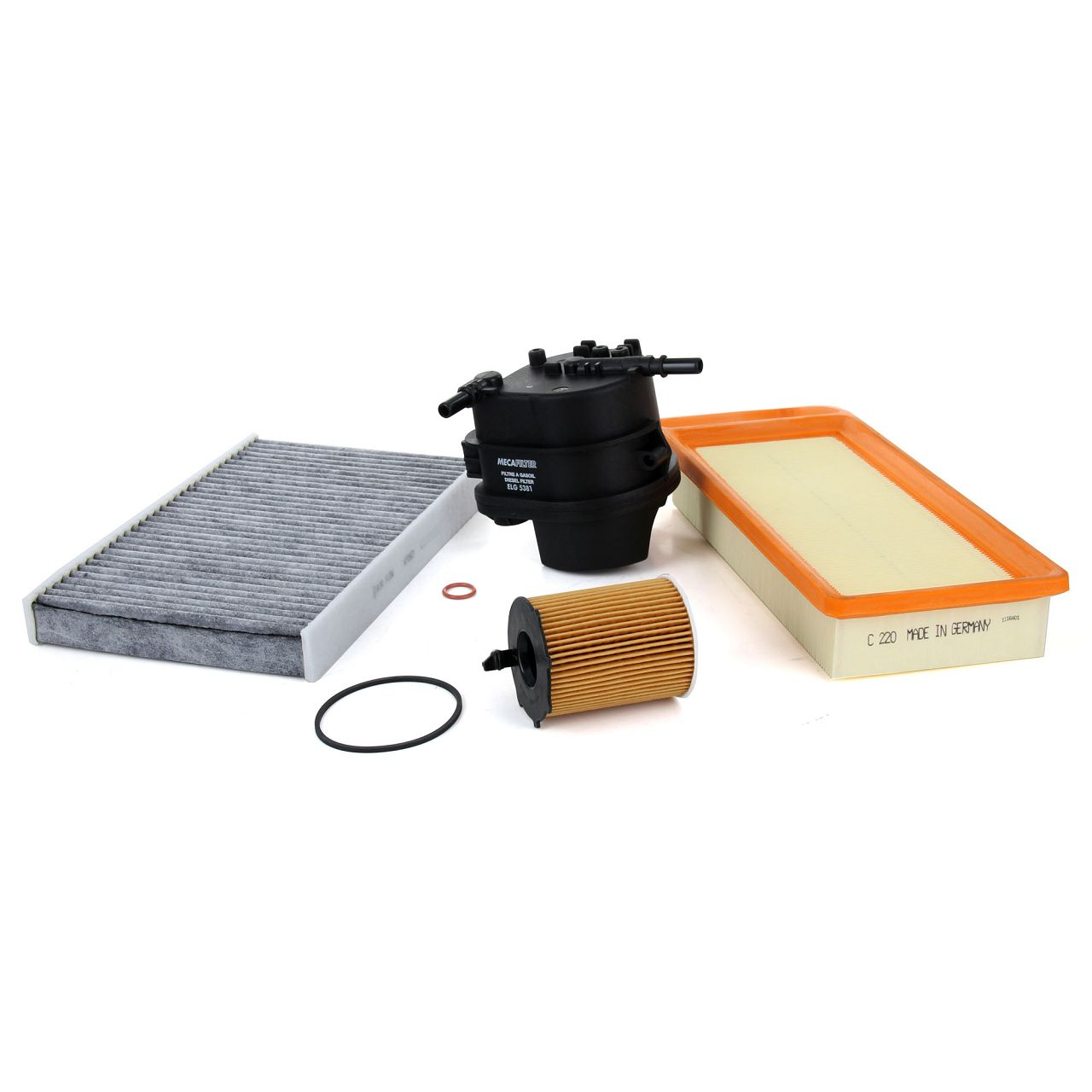 Inspektionskit Filterpaket Filterset für PEUGEOT 307 SW BREAK 1.4 HDI70 mit 68PS