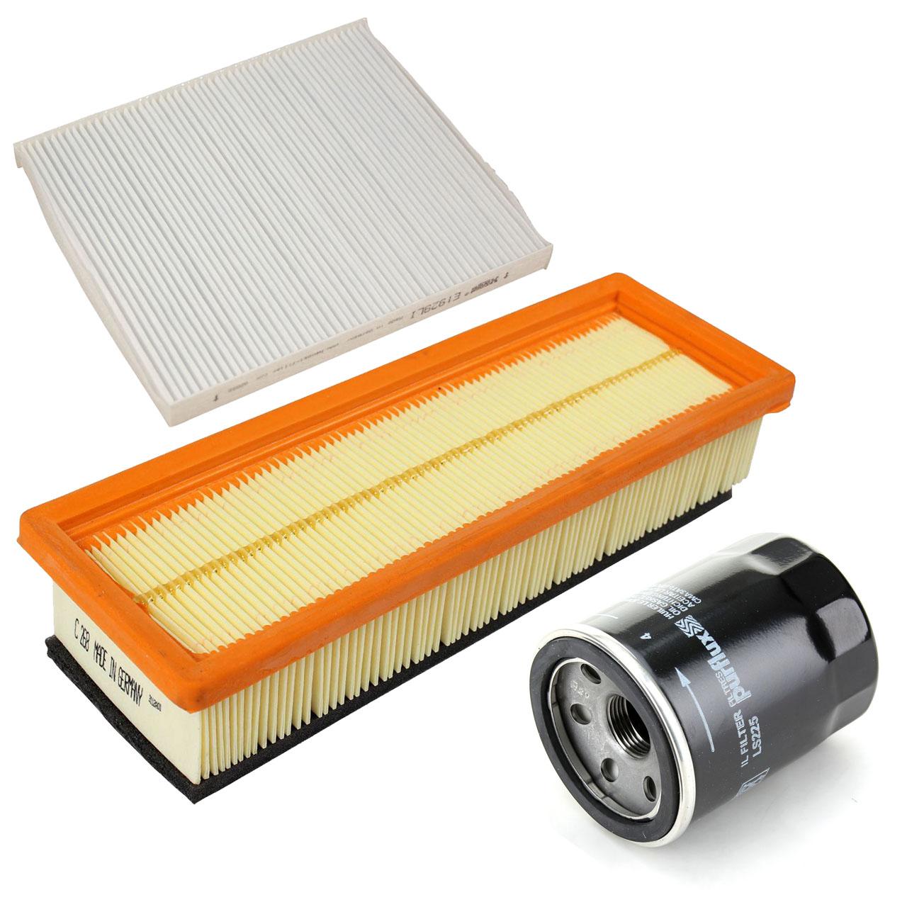 Inspektionskit Filterpaket für Fiat 500 / C (312) Panda (169) Ford KA (RU8) 1.2
