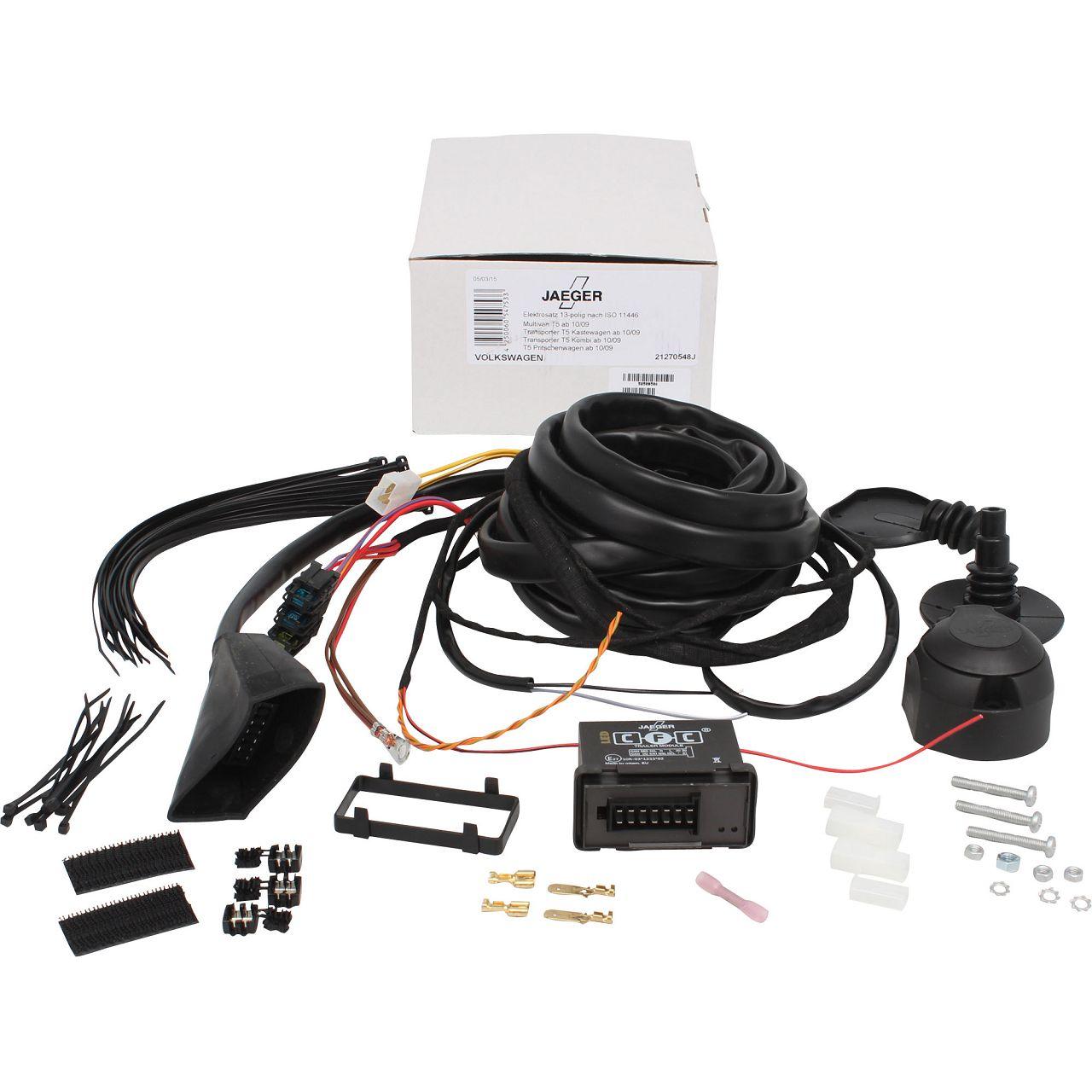 JAEGER Kabelsatz E-Satz Anhängerkupplung VW Multivan Transporter T5 T6 bis 10.2019