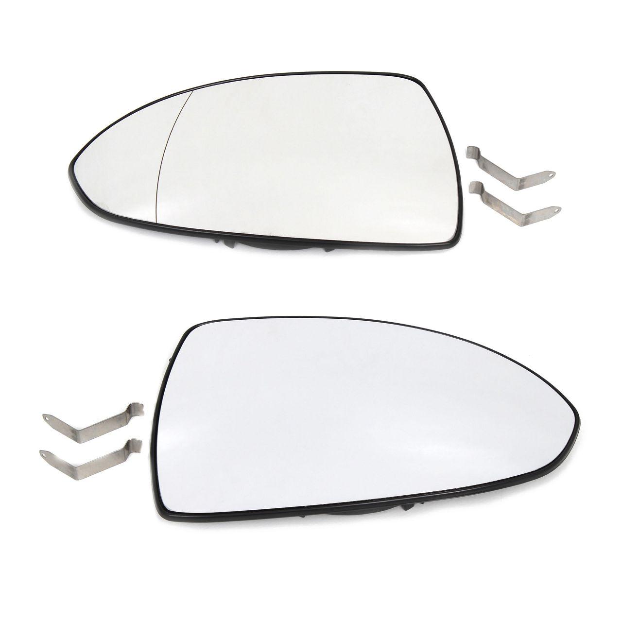 2x JOHNS Außenspiegel Spiegelglas ELEKTRISCH für OPEL Corsa D links + rechts