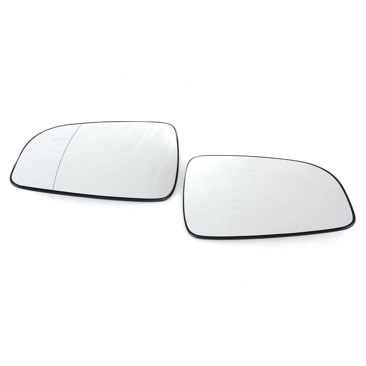 2x JOHNS Außenspiegel Spiegelglas ELEKTRISCH für OPEL Astra H links + rechts