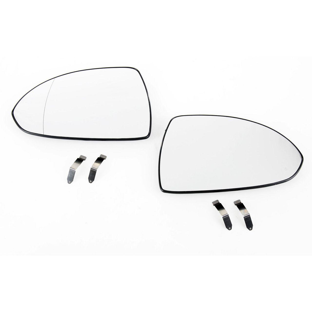 2x Außenspiegel Spiegelglas ELEKTRISCH für OPEL Corsa D bis Fgst. links + rechts