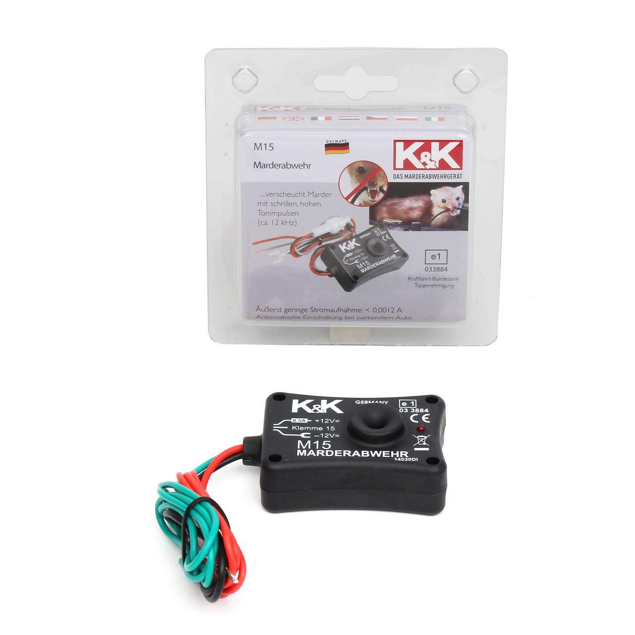 K&K Marderschutz Marderabwehr M15 Ultraschallgerät 12 kHz 85 dB(A)