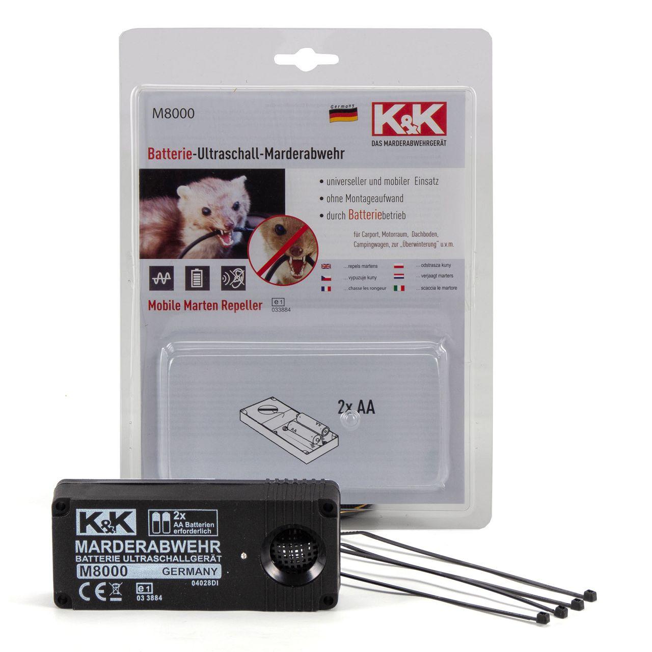 K&K Marderschutz Marderabwehr M8000 Ultraschallgerät 23 kHz 100 dB(A)