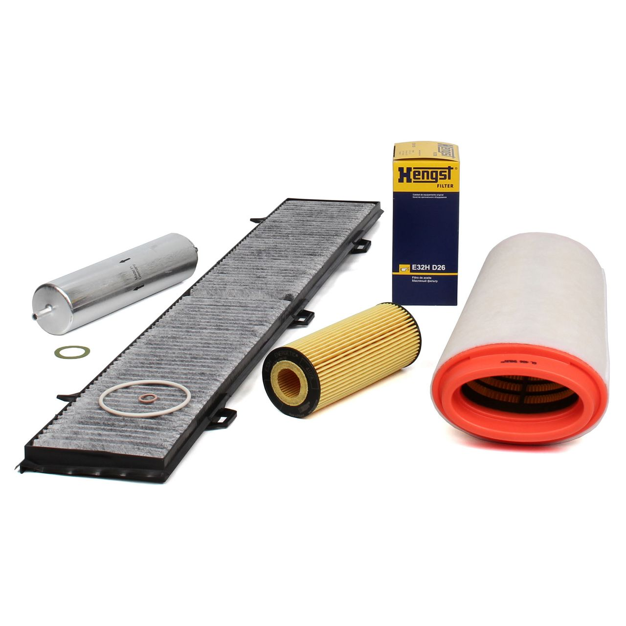 Inspektionskit Filterpaket für BMW 1er E81 E87 E88 E82 118d 122 PS + 120d 163 PS