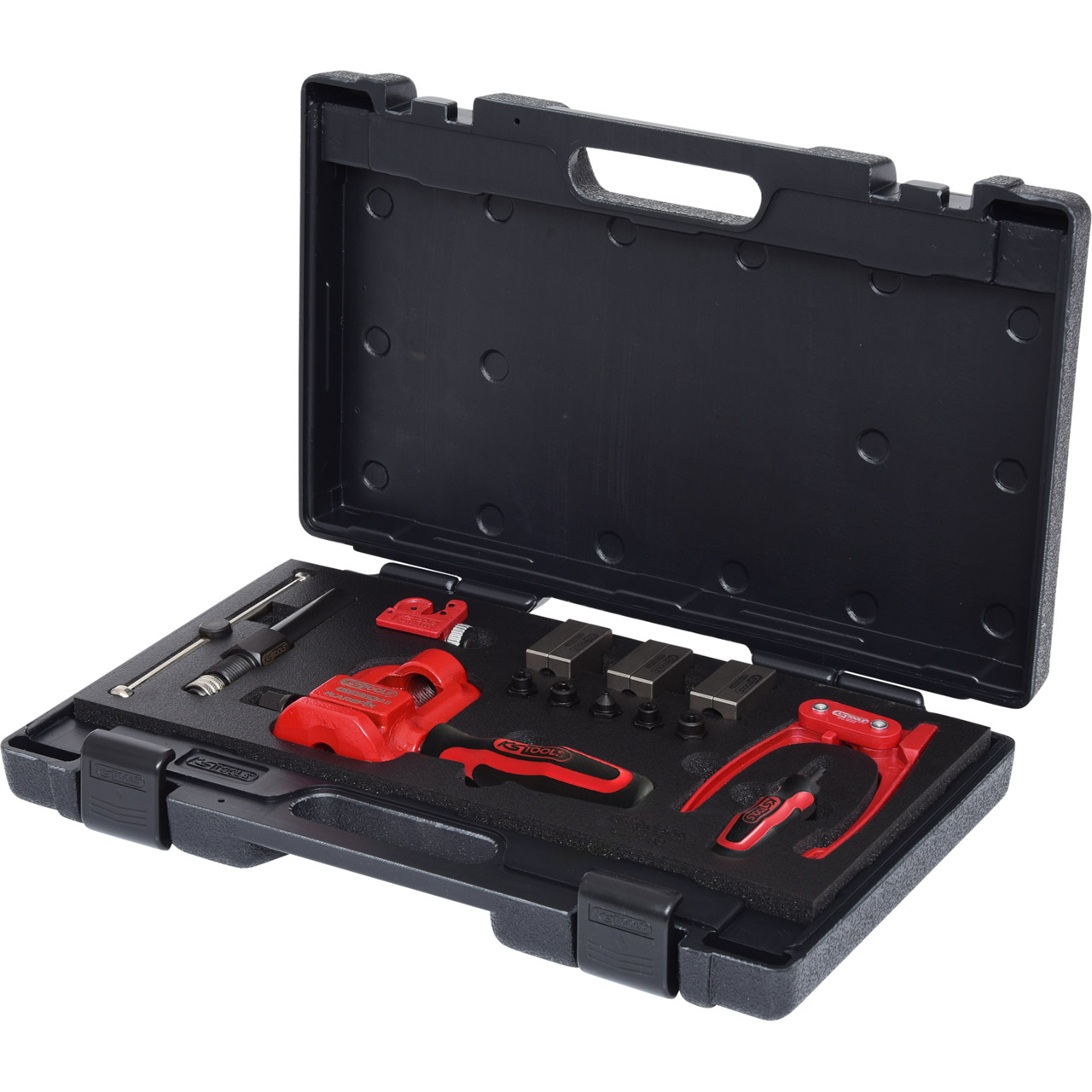 KS TOOLS 122.1290 Profibördelgerät Hydraulik / Bördelgerät für Bremsleitungen