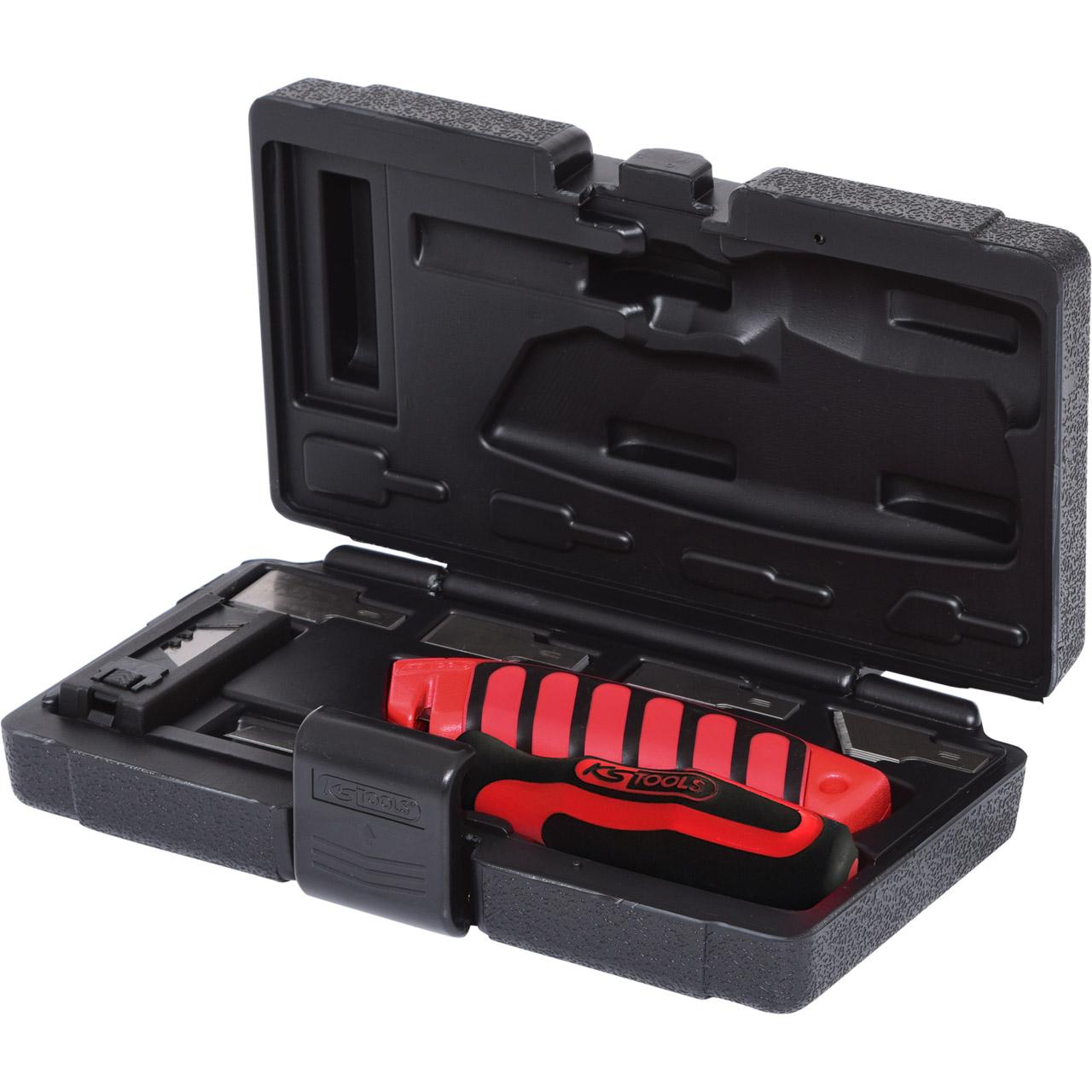 KS TOOLS 907.2200 Schaber-/Messersatz im Koffer Schaber Cuttermesser 27-teilig