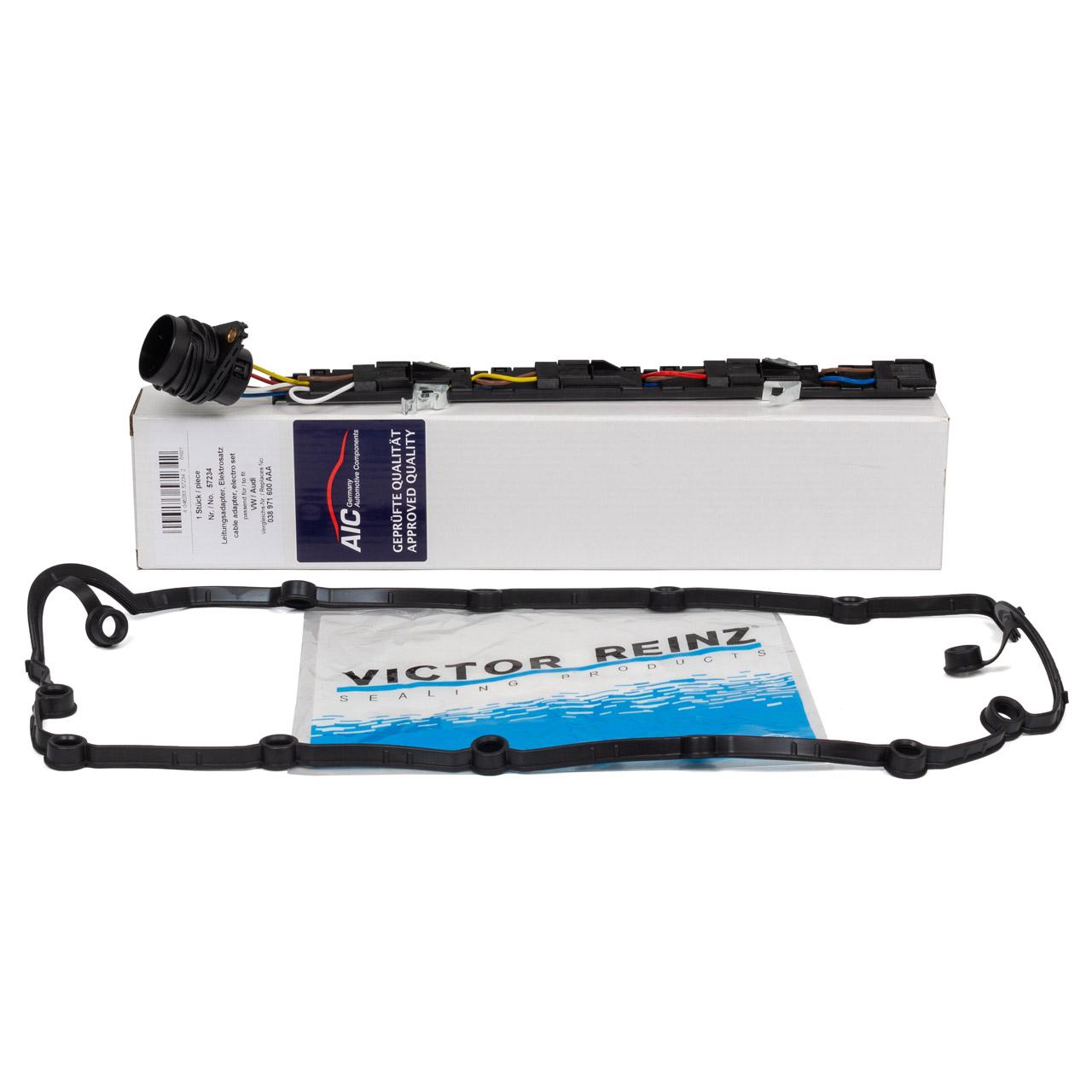 AIC Adapter Leitungssatz Pumpe-Düse + VICTOR REINZ Ventildeckeldichtung VW T5 1.9 TDI