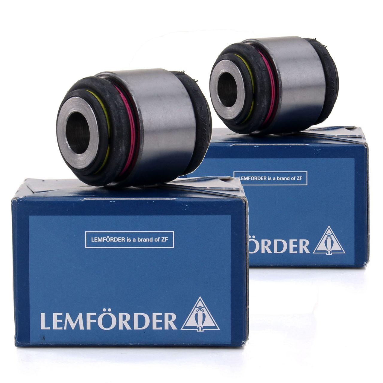 2x LEMFÖRDER Lagerbuchse Radlagergehäuse MERCEDES 190 W201 W124 W203 W204 W205 S124 hinten