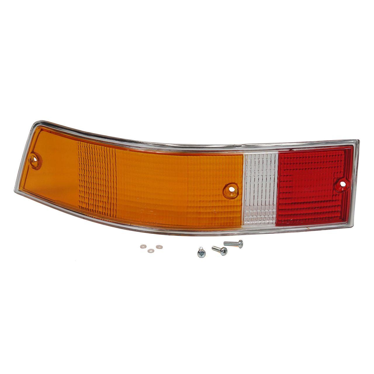 2x Rücklichtglas + Dichtung CHROM EU-Version PORSCHE 911 1967-79 links + rechts