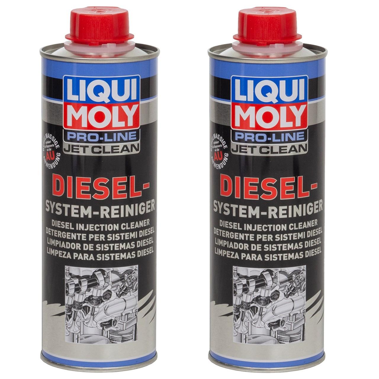 2x 500ml LIQUI MOLY 5154 Pro Line JET CLEAN Diesel System Reiniger Dose