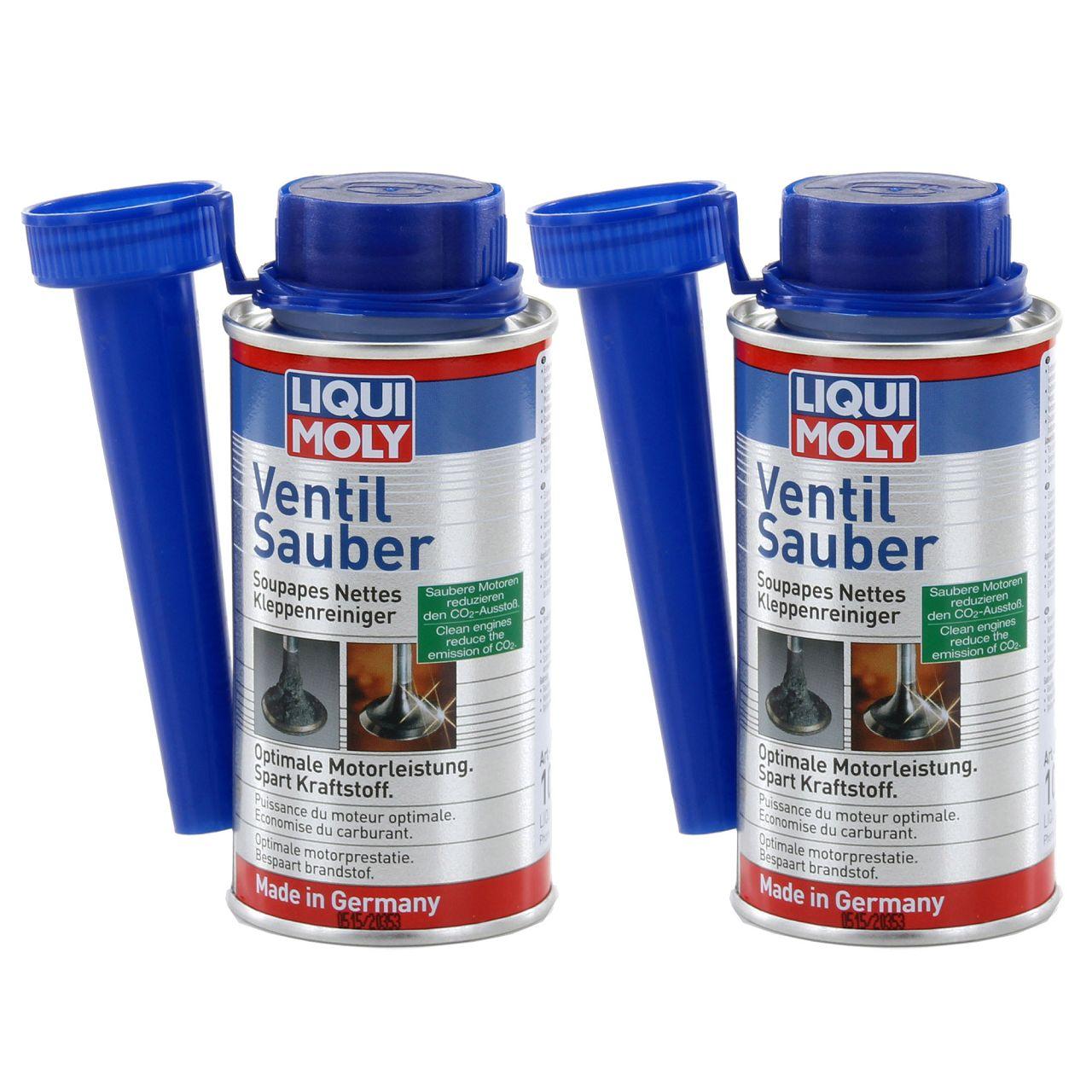 2x 150ml LIQUI MOLY Ventil Sauber Reiniger Kraftstoff Benzin Additiv 1014