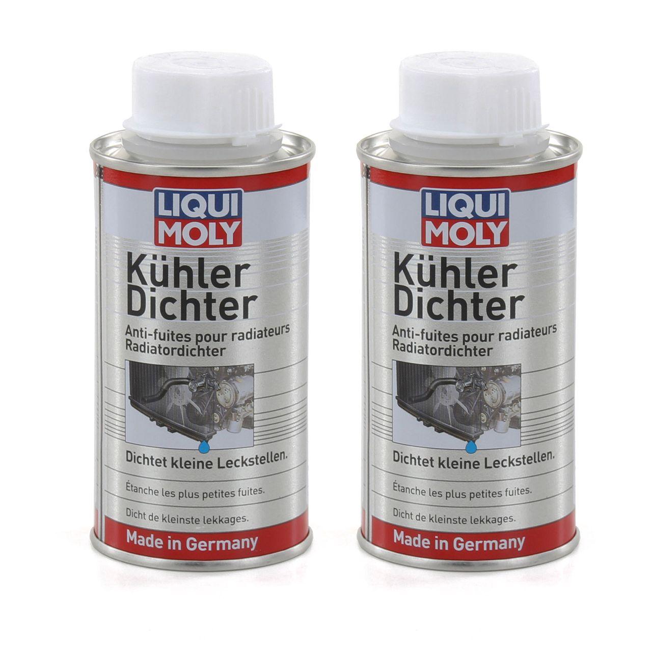 2x 150ml LIQUI MOLY Kühlerdichter Kühler-Dichtmittel-Additiv Dichtungsmittel