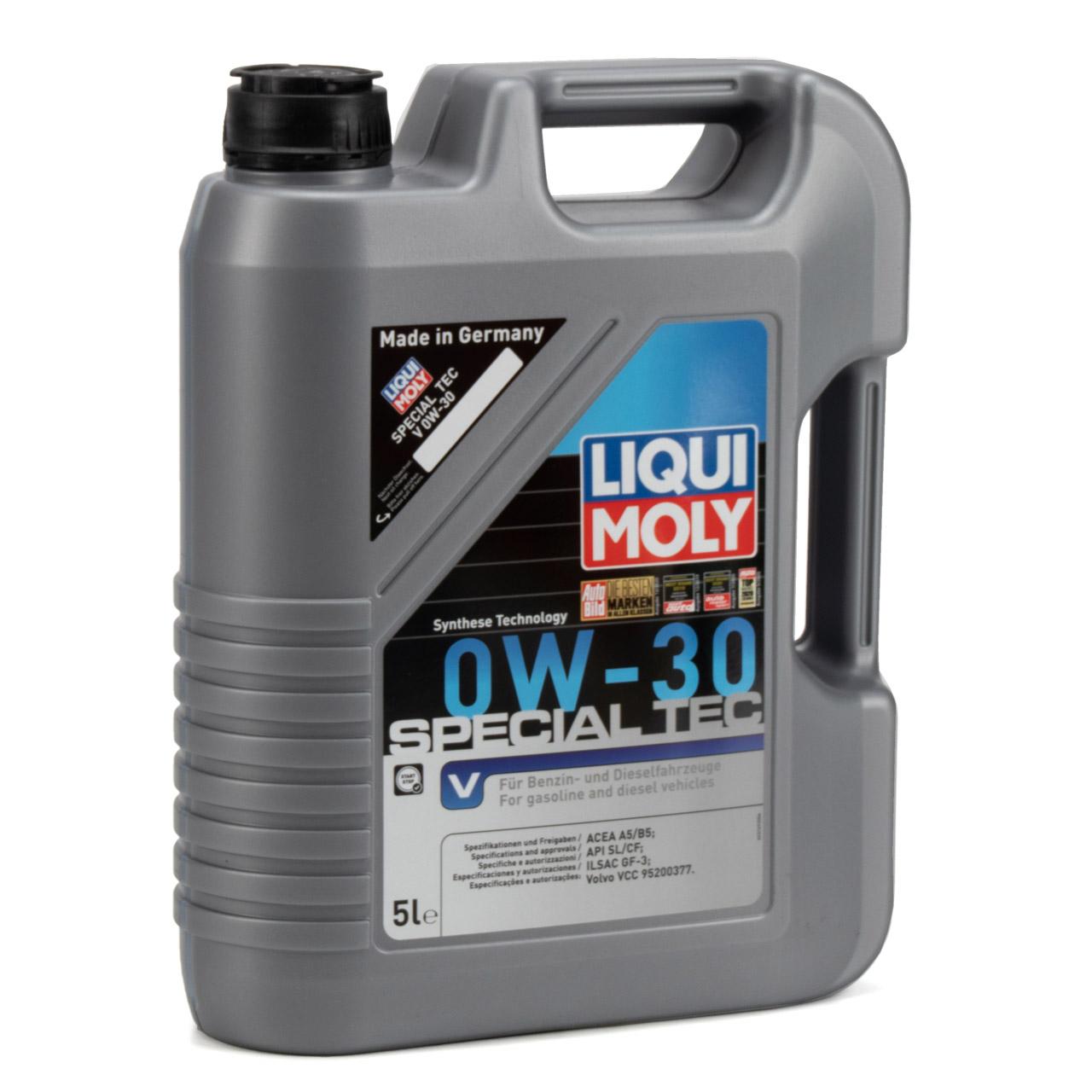 LIQUI MOLY Motoröl Öl SPECIAL TEC V 0W-30 0W30 Volvo VCC 95200377 - 10L 10 Liter