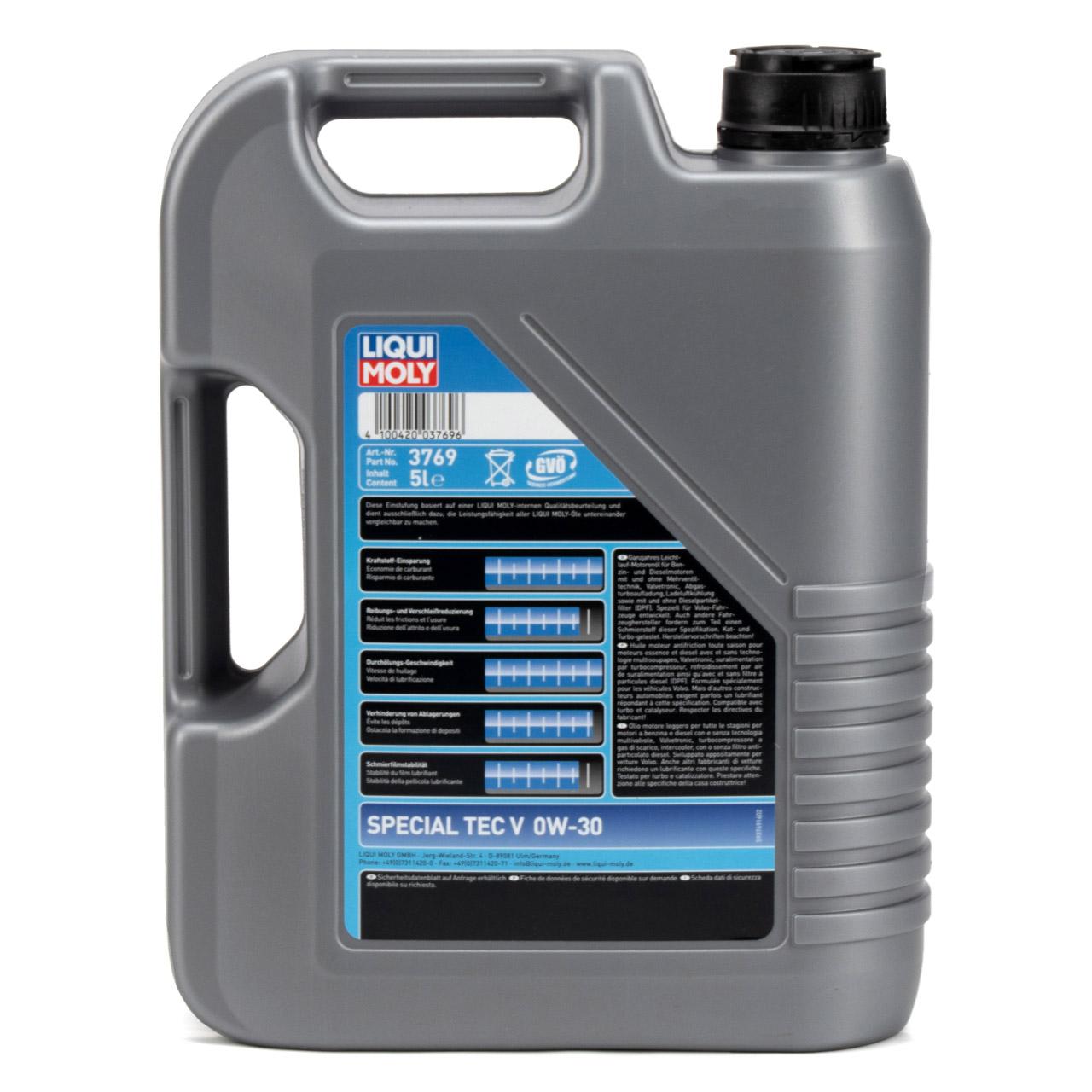 LIQUI MOLY Motoröl Öl SPECIAL TEC V 0W-30 0W30 Volvo VCC 95200377 - 5L 5 Liter