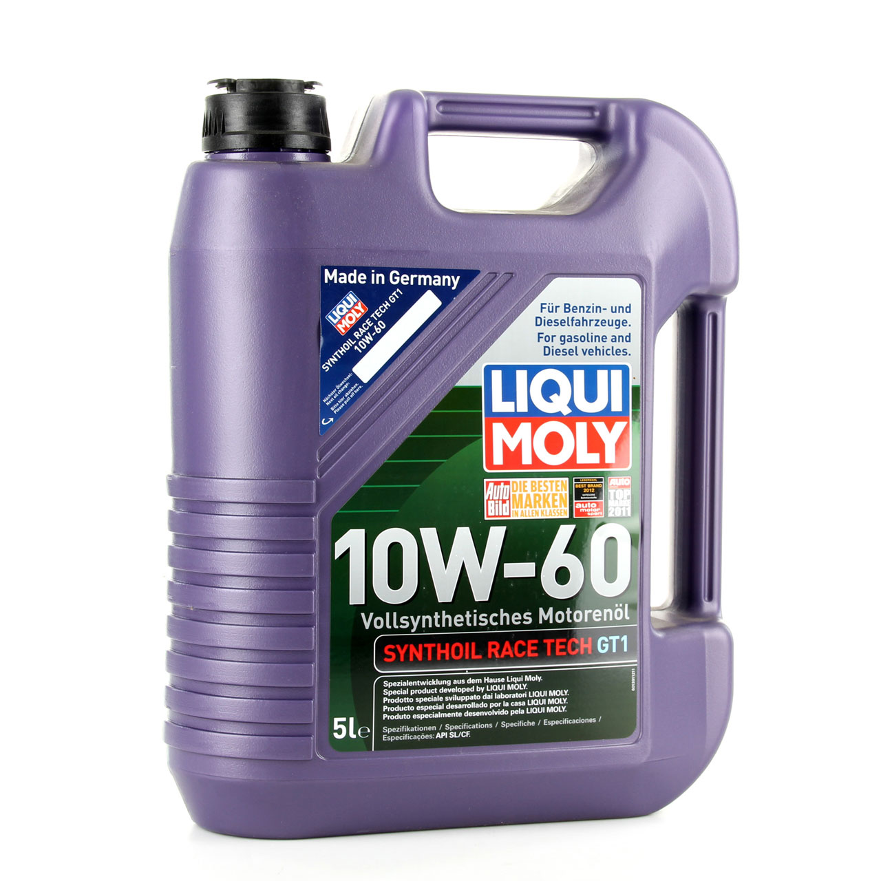 LIQUI MOLY Motoröl Öl SYNTHOIL RACE TECH GT1 10W60 10W-60 10L 10 Liter 1391
