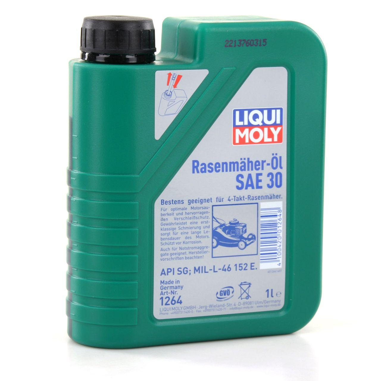 LIQUI MOLY Motoröl Öl 4-Takt Rasenmäher-Öl SAE30 3L 3 Liter 1264