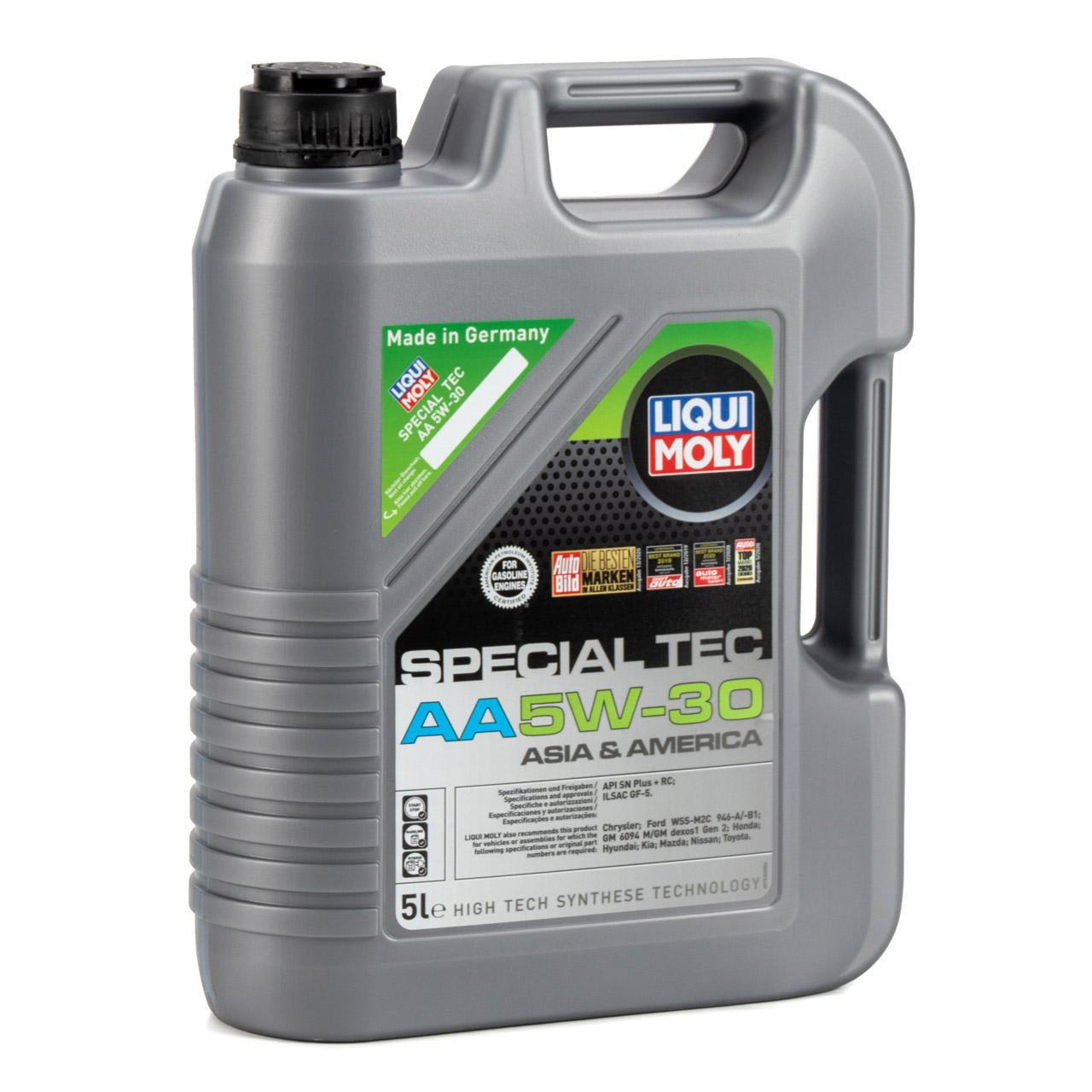 LIQUI MOLY 20954 Motoröl Öl SPECIAL TEC AA 5W-30 ASIA & AMERICA - 5L 5 Liter