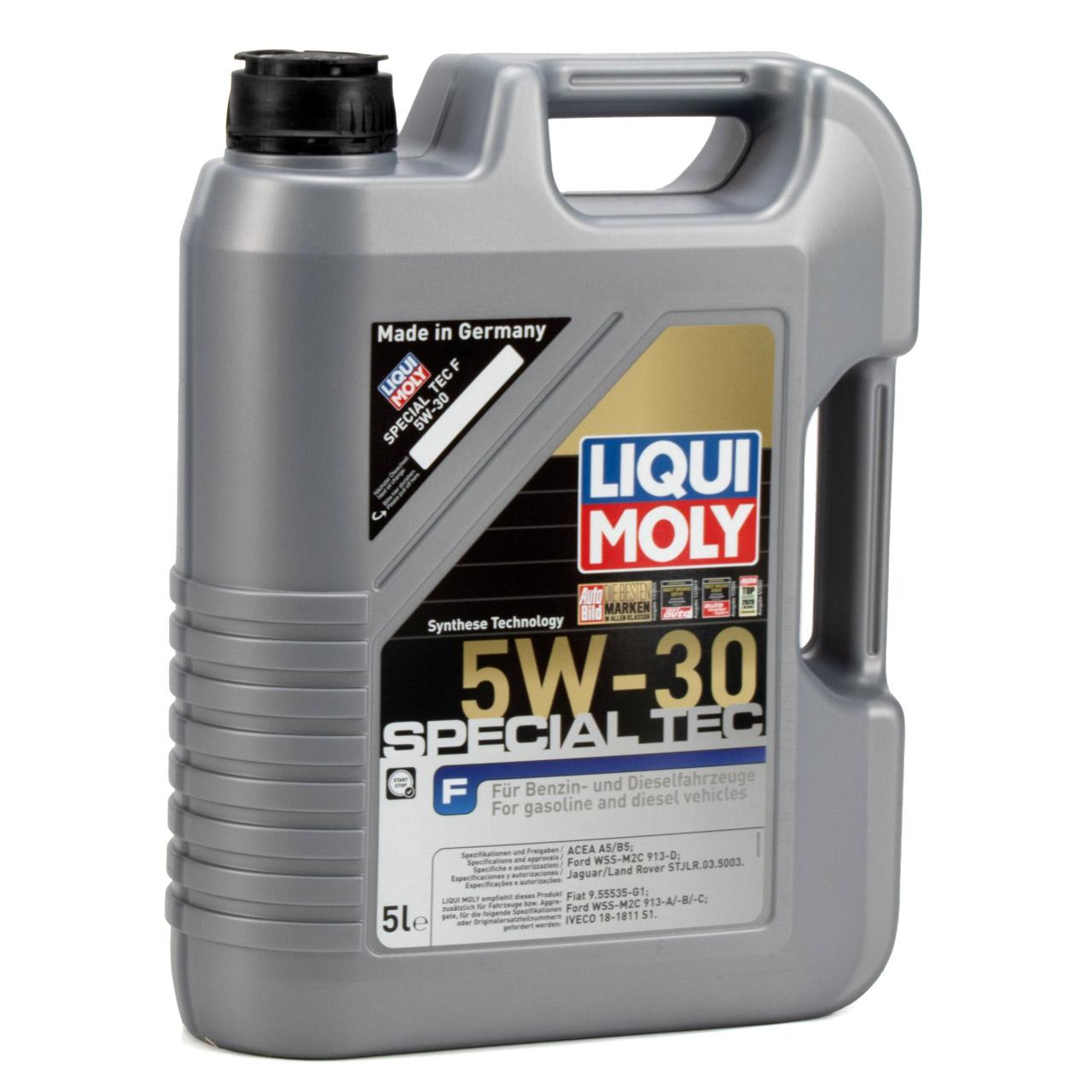 LIQUI MOLY Motoröl Öl SPECIAL TEC F 5W-30 5W30 Ford WSS-M2C913-D - 5L 5 Liter