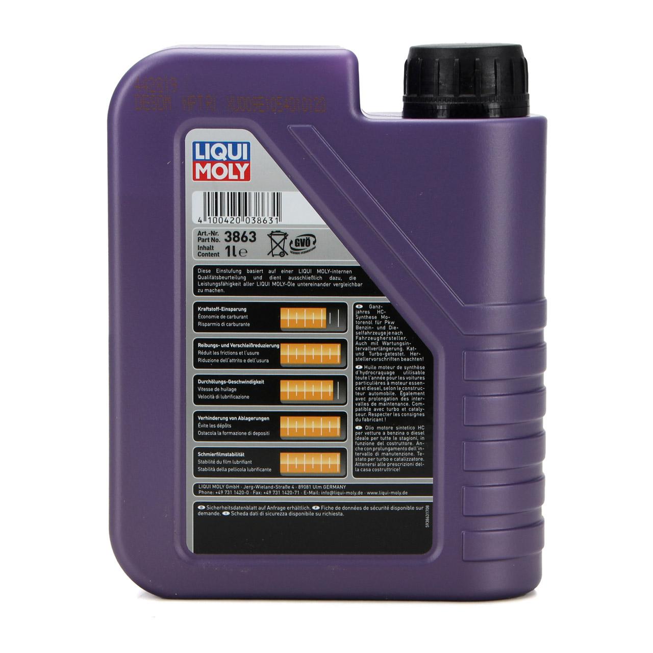 LIQUI MOLY Motoröl Öl Leichtlauf HIGH TECH 5W40 BMW LL-01 MB 229.5 - 1L 1 Liter