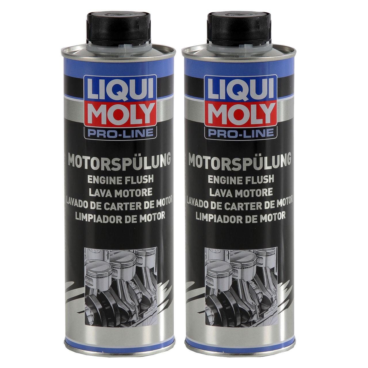 LIQUI MOLY 2427 PRO-LINE Motorspülung Motorreinigung Schlammspülung 2x 500 ml