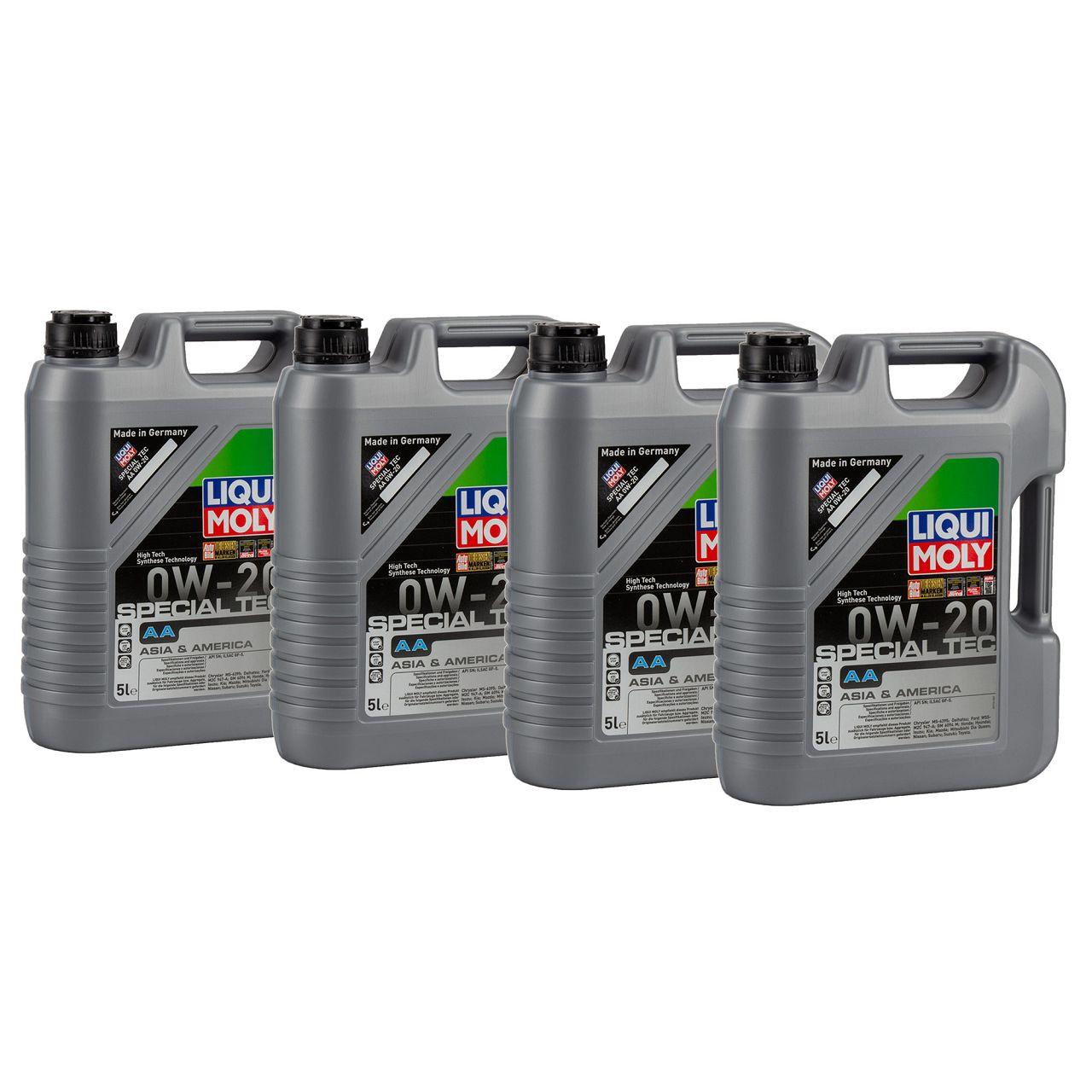 20L 20 Liter LIQUI MOLY 9734 Motoröl Öl SPECIAL TEC AA 0W-20 0W20 ASIA AMERICA