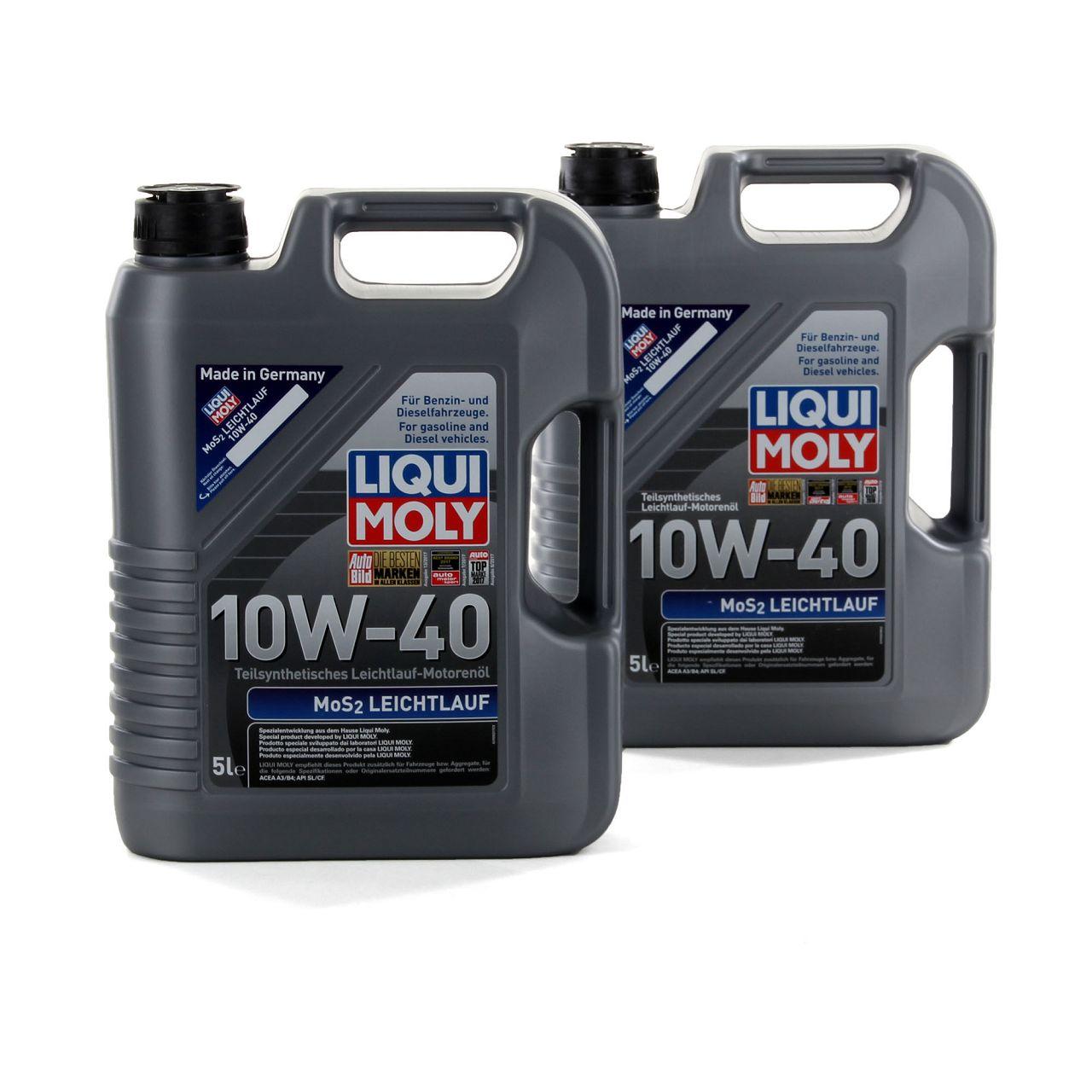 LIQUI MOLY Motoröl Öl MoS2 LEICHTLAUF 10W40 10W-40 10L 10 Liter 1092