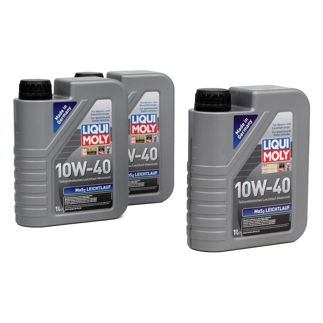 LIQUI MOLY Motoröl Öl MoS2 LEICHTLAUF 10W40 10W-40 3L 3Liter 1091