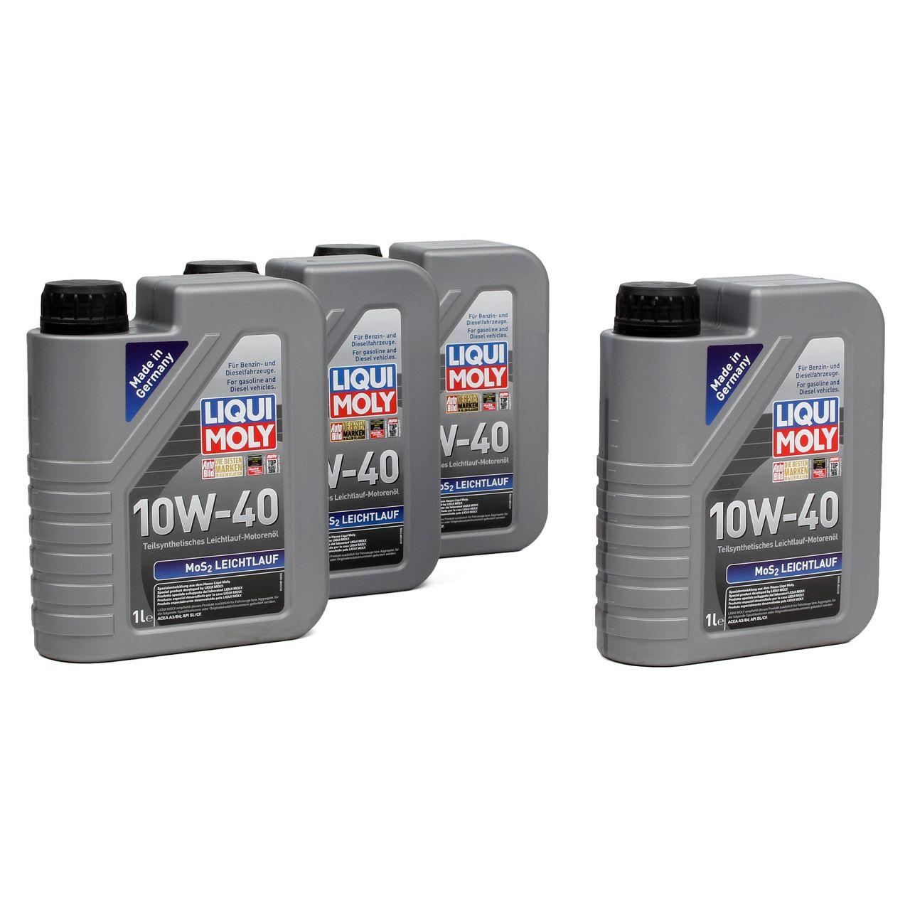 LIQUI MOLY Motoröl Öl MoS2 LEICHTLAUF 10W40 10W-40 4L 4Liter 1091
