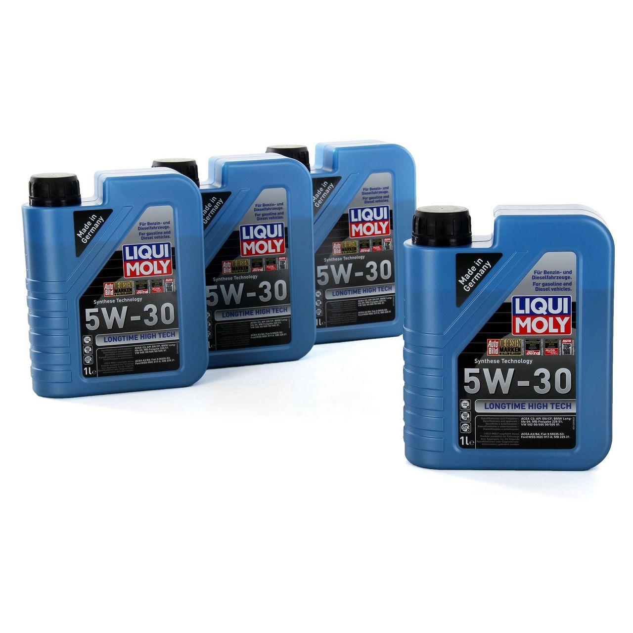 LIQUI MOLY Motoröl Öl LONGTIME HIGH TECH 5W30 5W-30 4L 4Liter 1136
