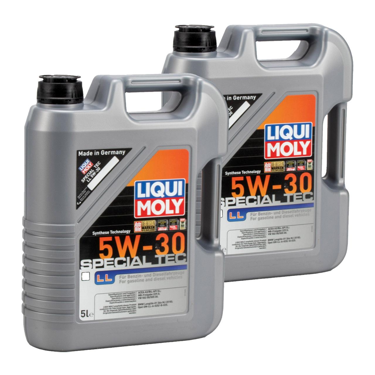 LIQUI MOLY Motoröl Öl SPECIAL TEC LL 5W30 MB 229.5 VW 502/505.00 - 10L 10 Liter
