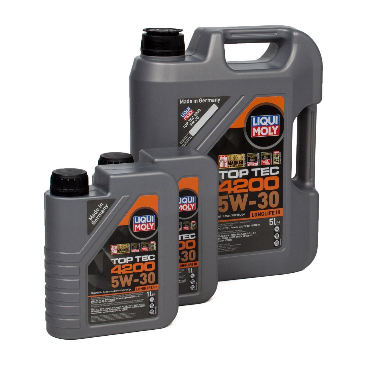 LIQUI MOLY 7L 7 Liter Motoröl Öl TOP TEC 4200 5W30 5W-30 3707 VW 504.00 507.00
