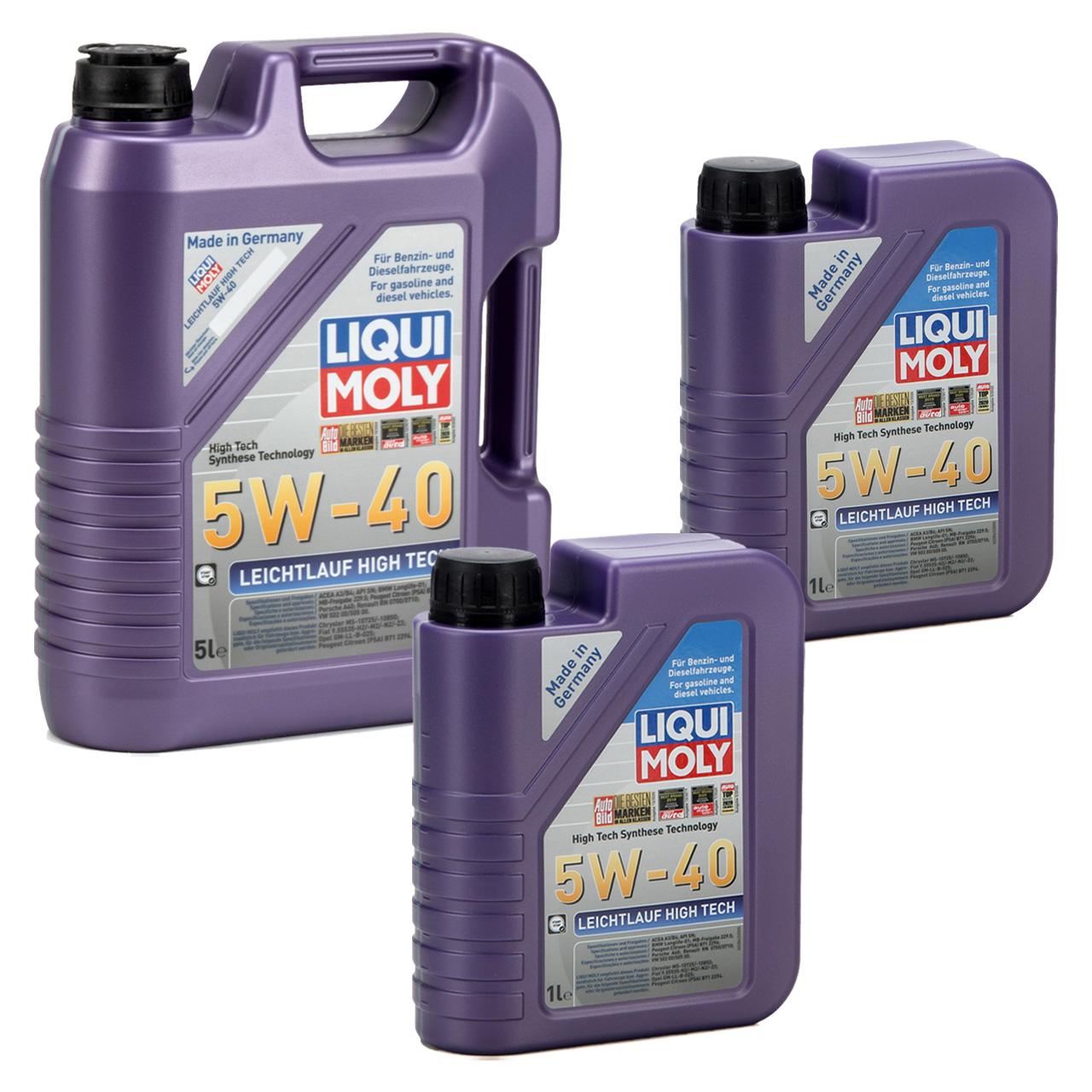 LIQUI MOLY Motoröl Öl Leichtlauf HIGH TECH 5W40 BMW LL-01 MB 229.5 - 7L 7 Liter