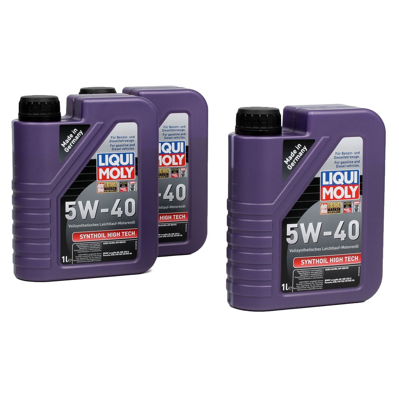 LIQUI MOLY Motoröl Öl SYNTHOIL HIGH TECH 5W40 5W-40 3L 3 Liter 1306