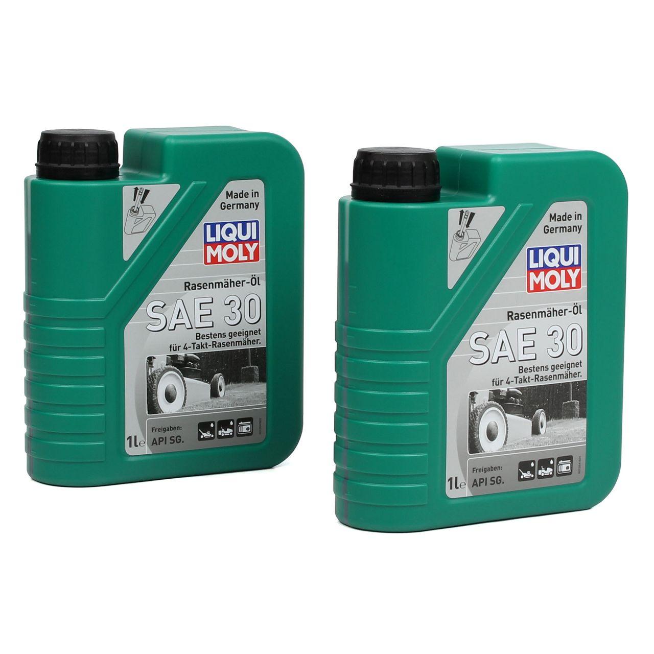LIQUI MOLY Motoröl Öl 4-Takt Rasenmäher-Öl SAE30 2L 2 Liter 1264