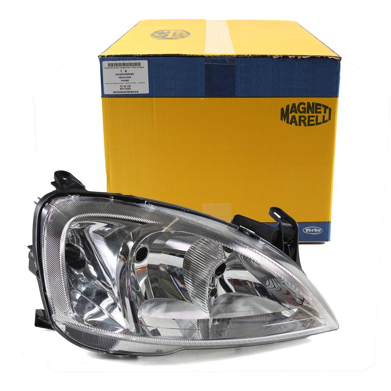 VALEO Scheinwerfer HALOGEN für OPEL Combo + Corsa C ab - bis Fgst.-Nr. rechts