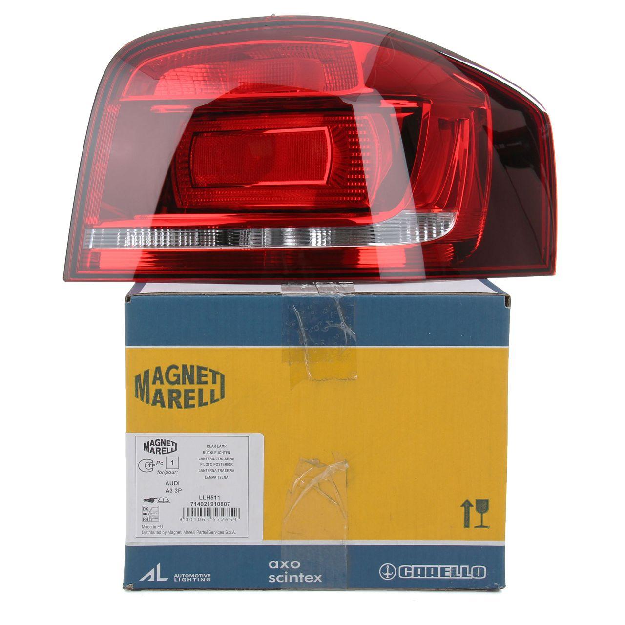 MAGNETI MARELLI Heckleuchte Rücklicht KIRSCHROT für AUDI A3 S3 8P 3-türig rechts
