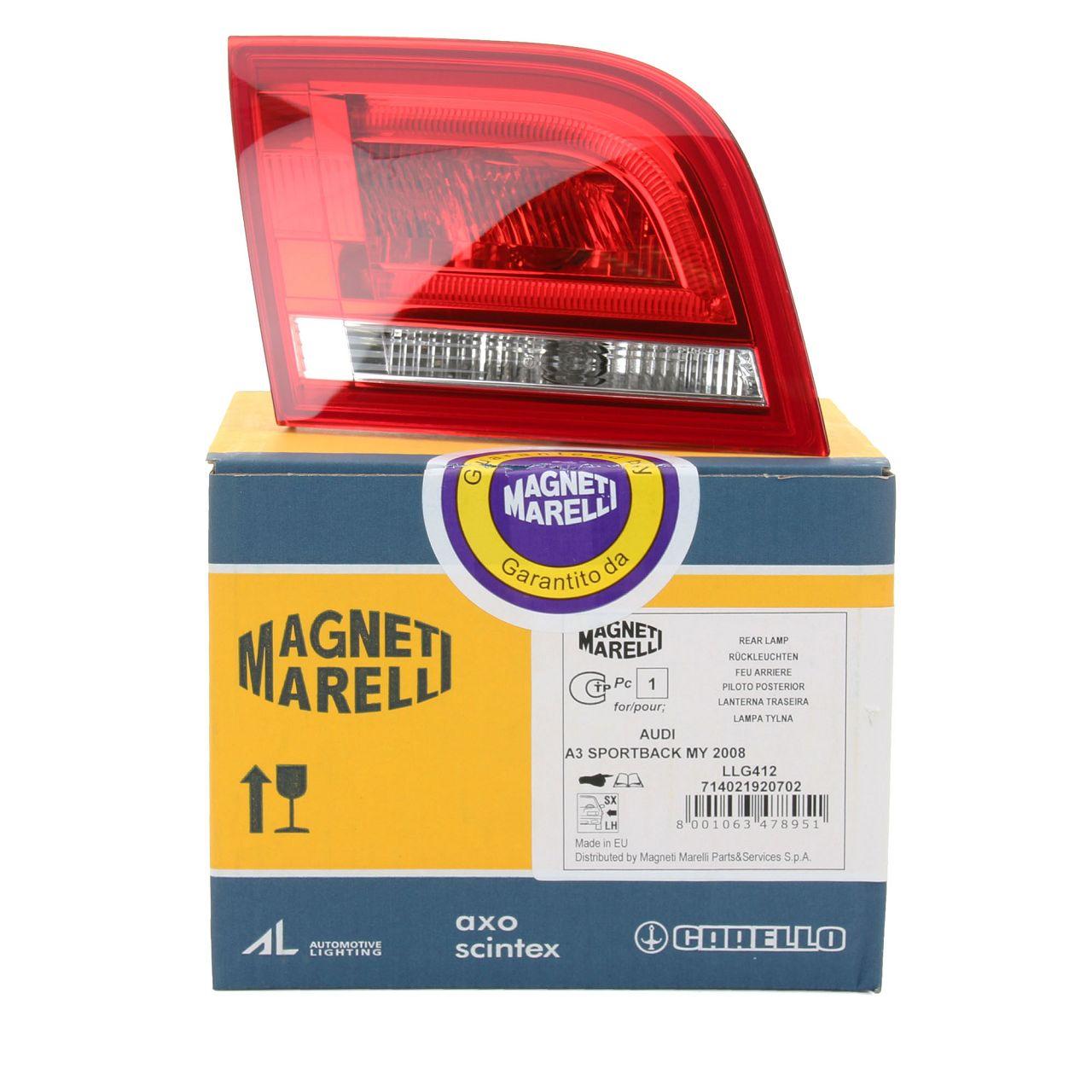 MAGNETI MARELLI Heckleuchte LED AUDI A3 S3 RS3 (8PA) Sportback links innen